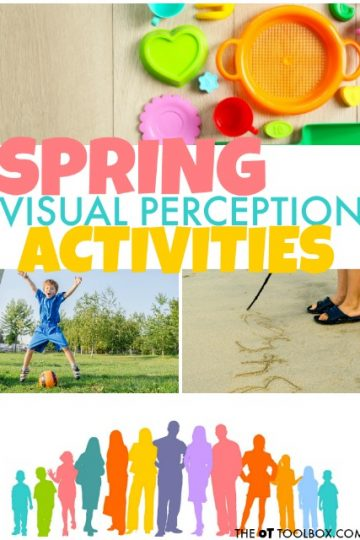 Spring themed visual perception activities for kids