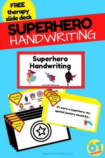 Superhero writing slide deck