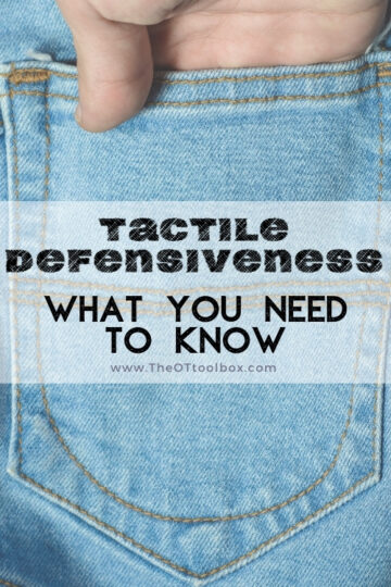 Tactile defensiveness and what you need to know about tactile sensitivities