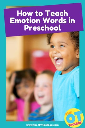 teach emotion words and support emotional vocabulary development in preschoolers