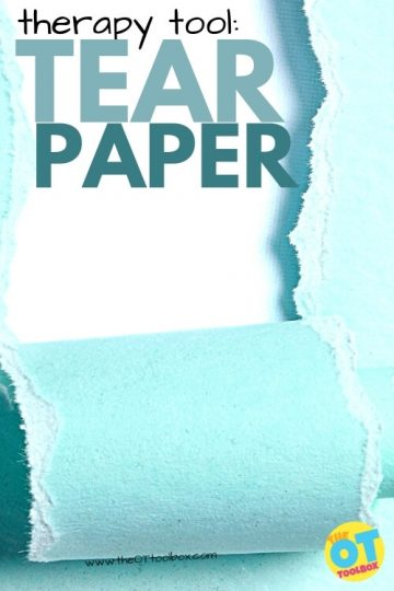 Tear paper fine motor activity