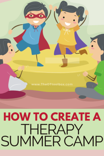 How to set up a therapy summer camp