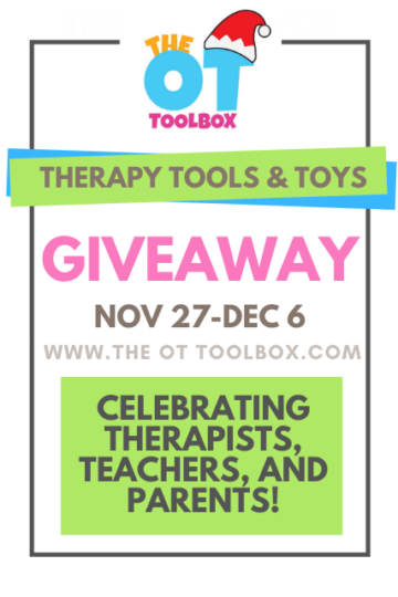Therapy giveaway for occupational therapists, teachers, and parents.