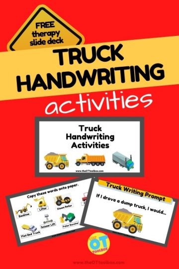 truck handwriting activities