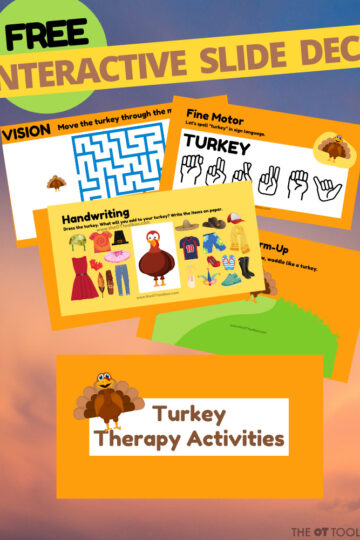 Turkey theme slide deck for occupational therapy
